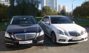 Аренда Мерседес Е 200 W212 с водителем в Москве