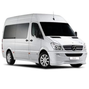 Mercedes Sprinter 311 hire in Moscow with a driver